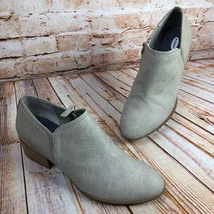 Dr Scholls TRUE Grey Leather Ankle Booties Boots